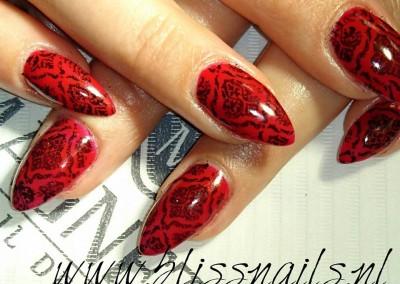 Ferrari red met stamps